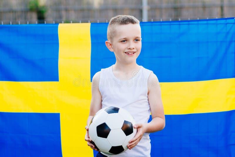 Sostenitore nazionale della squadra di football americano della Svezia immagine stock libera da diritti
