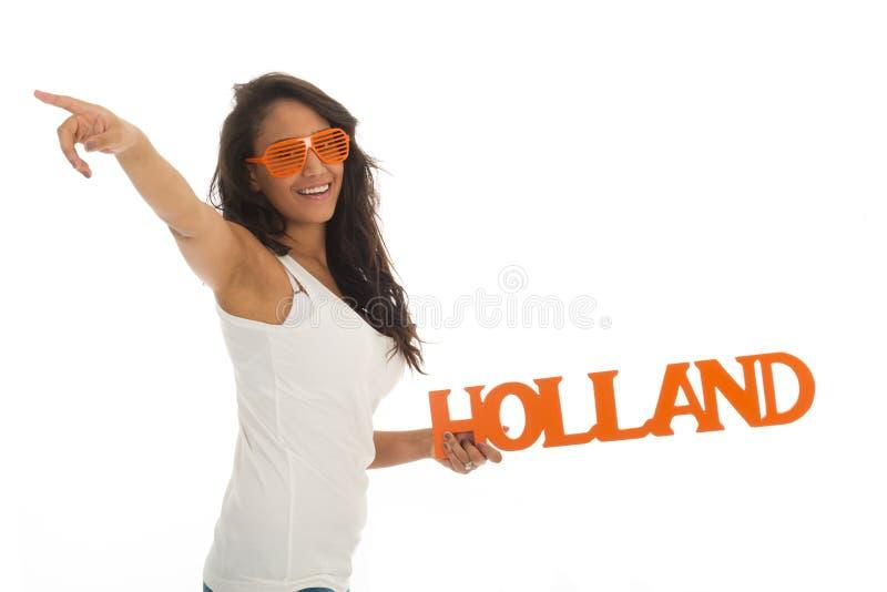 Sostenitore per l'Olanda fotografie stock