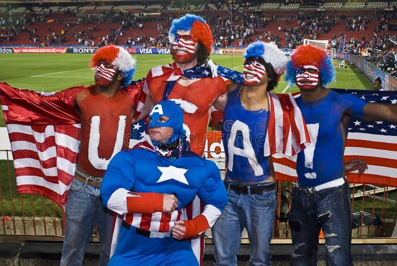 Sostenitori di calcio degli S.U.A. - WC 2010 della FIFA immagine stock libera da diritti