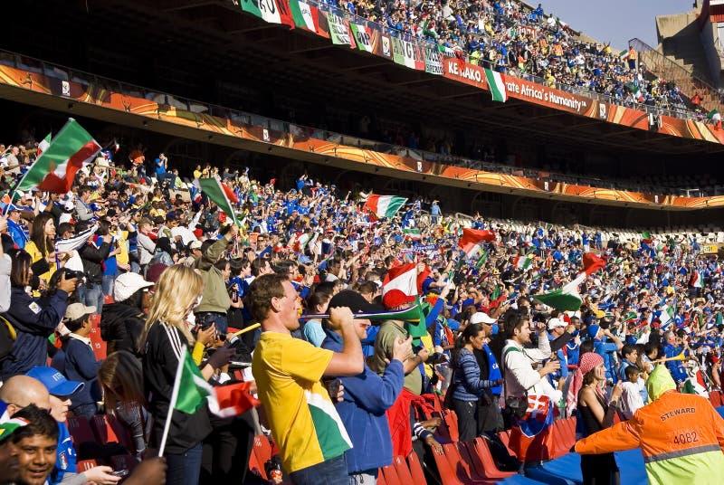 Sostenitori di calcio - WC 2010 della FIFA immagine stock libera da diritti