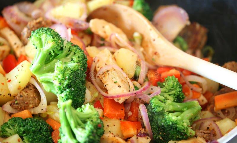 Sostituti vegetariani della carne per il pranzo fotografie stock libere da diritti