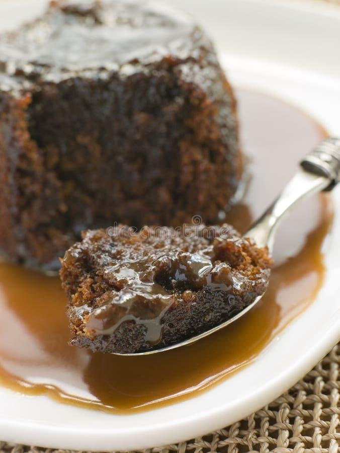 sosu lepkie toffi puddingu zdjęcie stock