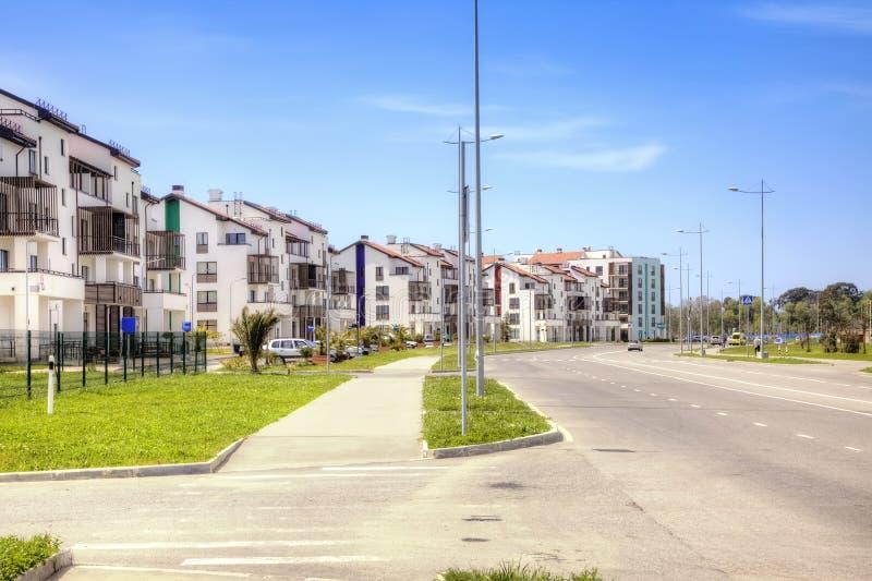 Download Sotchi Adler Olympisch Dorp Stock Afbeelding - Afbeelding bestaande uit architectuur, cityscape: 54080101