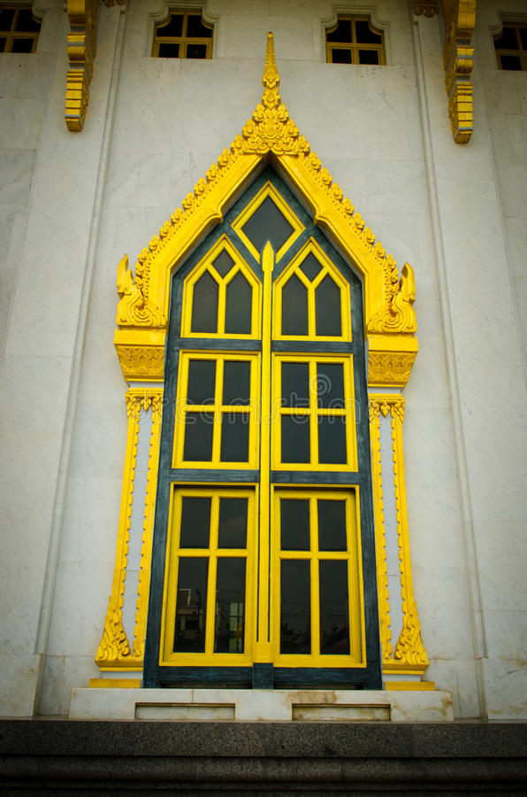Sothon wararam worawihan temple. Architecture windows Sothon wararam worawihan temple stock images