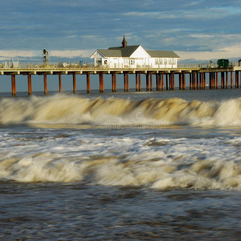 Download Sothwold Pier stock image. Image of souhtwold, england - 12085453