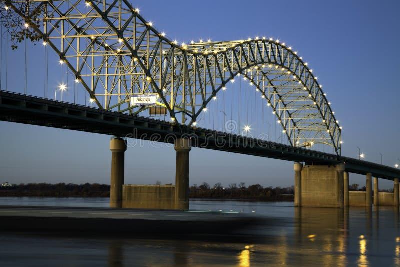 soto barque моста de hernando вниз стоковое фото