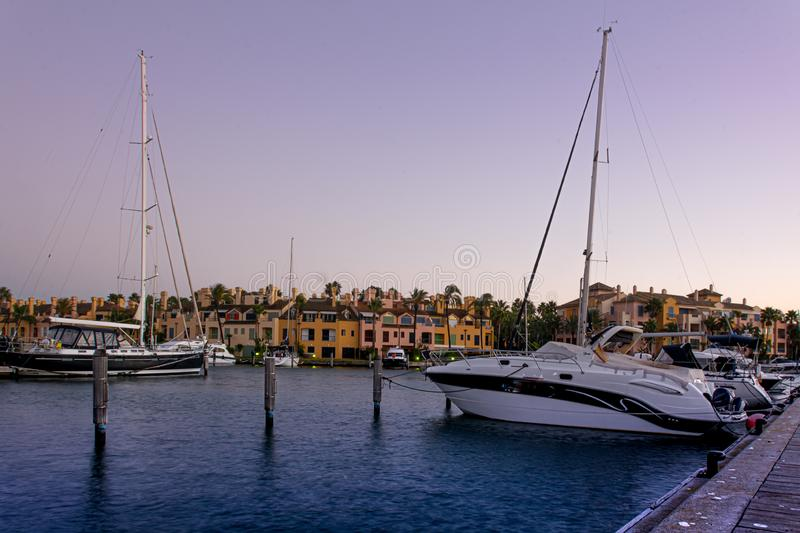 Sotogrande urbanisation and Marina in Andalusia royalty free stock image