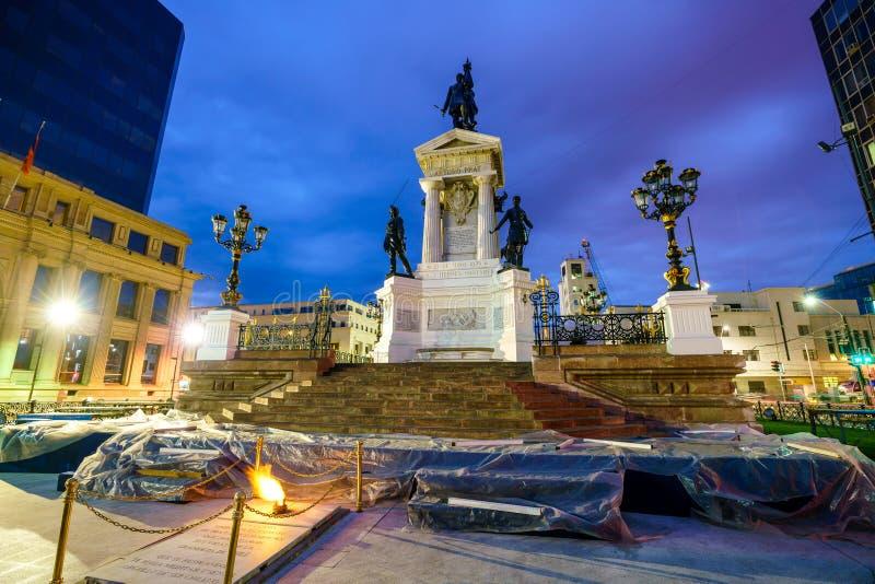 Sotomayor广场在瓦尔帕莱索,智利 免版税库存图片