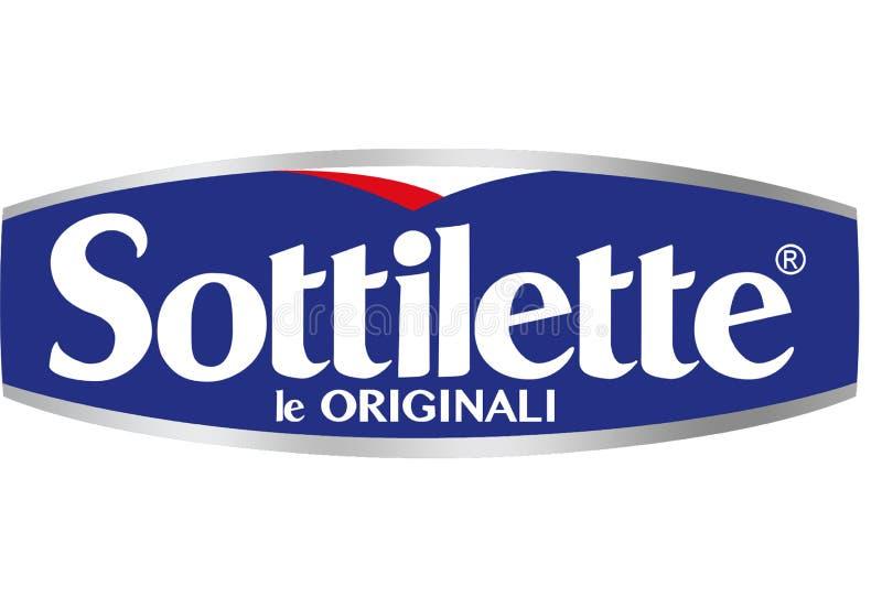Sottilette Kraft logo stock illustrationer