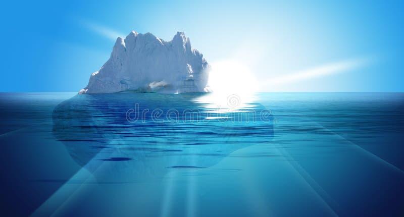 Sotto acqua illustrazione di stock