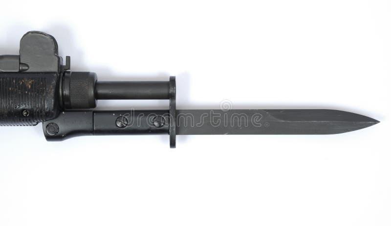 Sotto baionetta UZI israeliana della mitragliatrice fotografia stock libera da diritti
