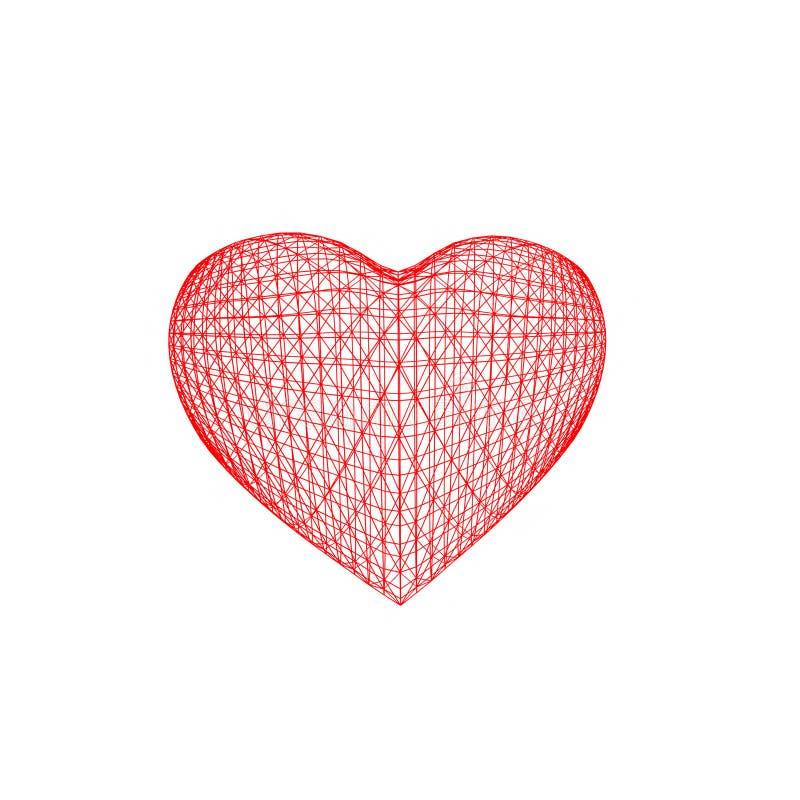 Sotto forma di cuore illustrazione di stock