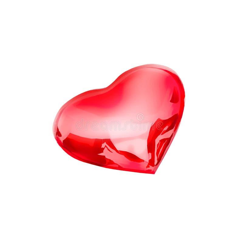 Sotto forma di cuore Estratto sotto forma di cuore isolato su un fondo bianco royalty illustrazione gratis
