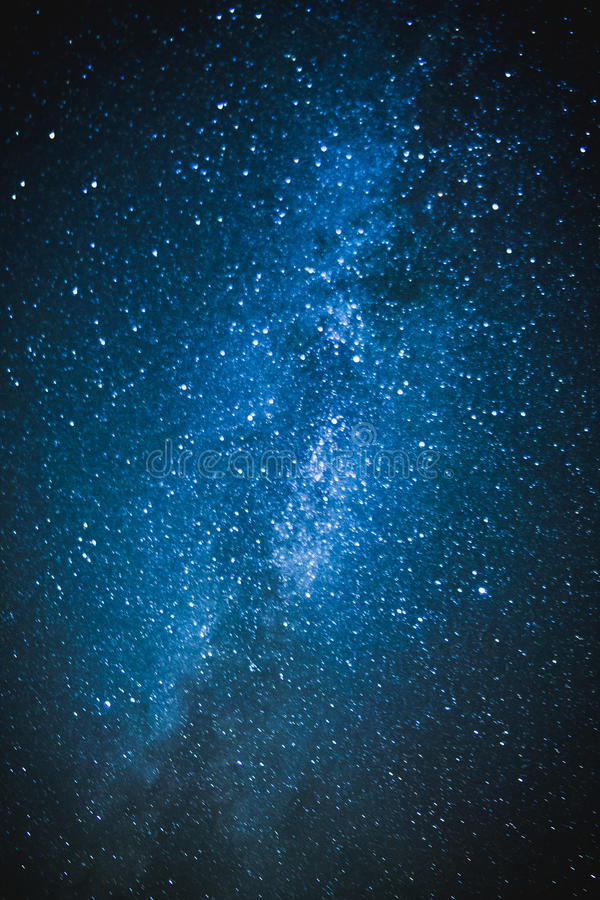 Sotto il cielo stellato fotografia stock
