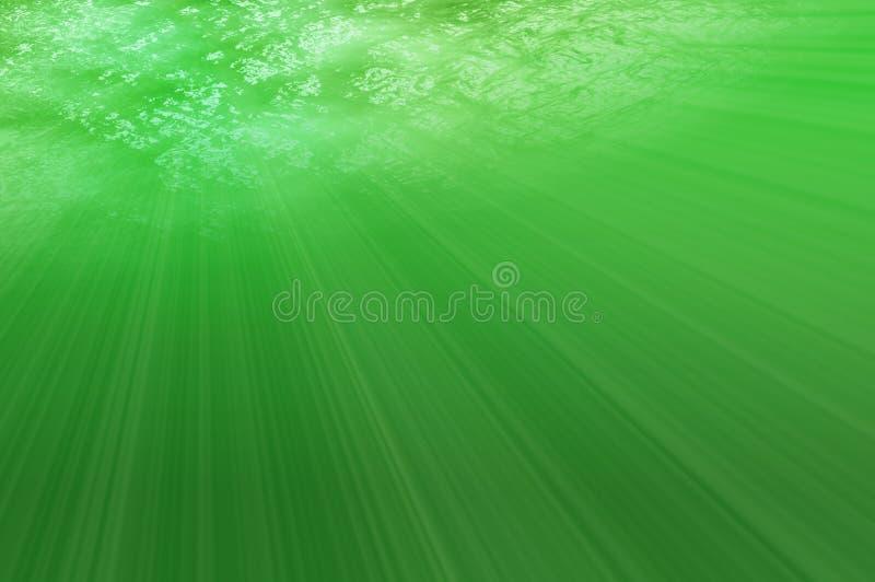 Sotto il mare verde royalty illustrazione gratis