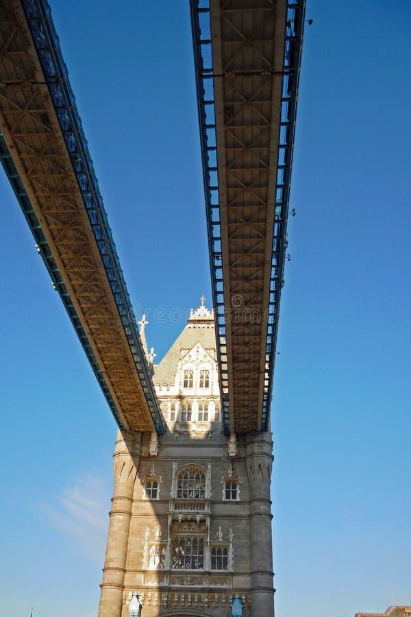 Sotto il ponte della torre fotografia stock libera da diritti