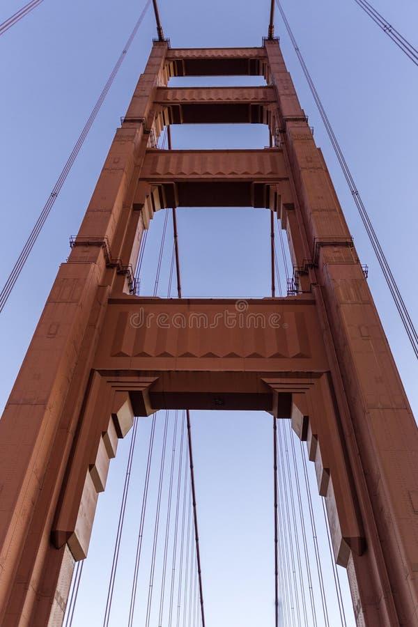 Sotto il ponticello di cancello dorato fotografia stock libera da diritti