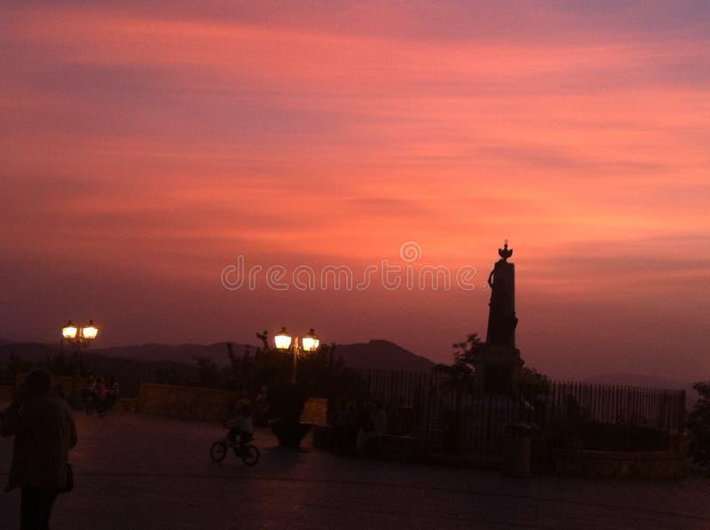 Sotto il Sun di Palermo fotografia stock