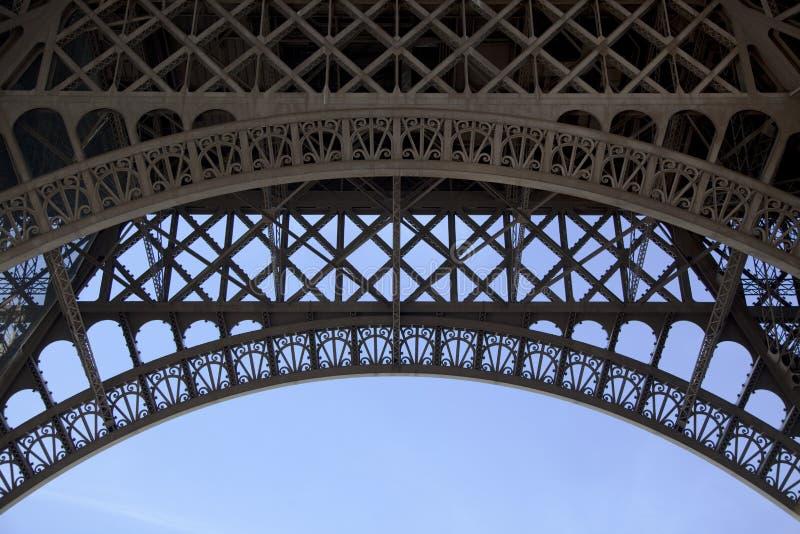 Sotto la Torre Eiffel fotografia stock