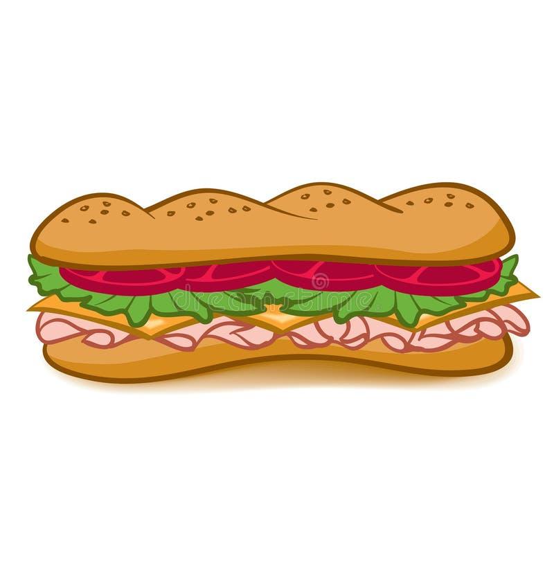 Sotto panino illustrazione vettoriale