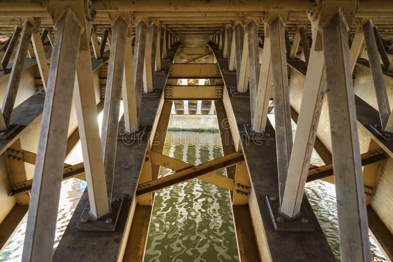 Sotto un ponte fotografie stock libere da diritti