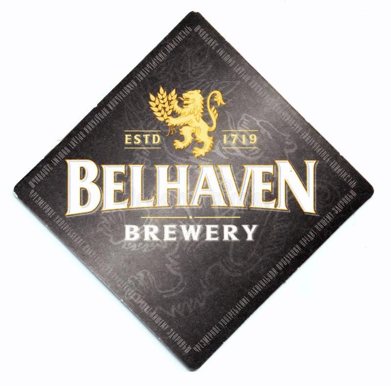 Sottobicchiere della birra di Belhaven immagini stock