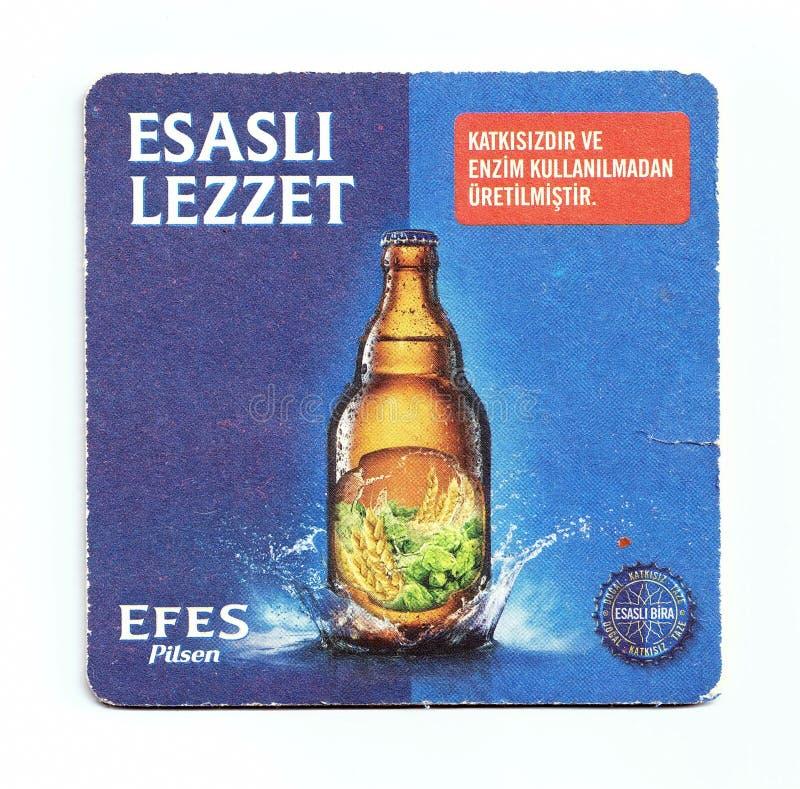 Sottobicchiere della birra di Efes fotografia stock libera da diritti