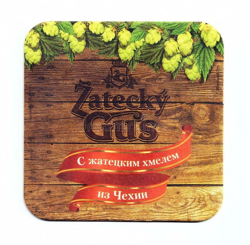 Sottobicchiere della birra di Zatecky Gus fotografia stock