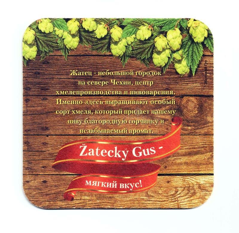 Sottobicchiere della birra di Zatecky Gus fotografia stock libera da diritti