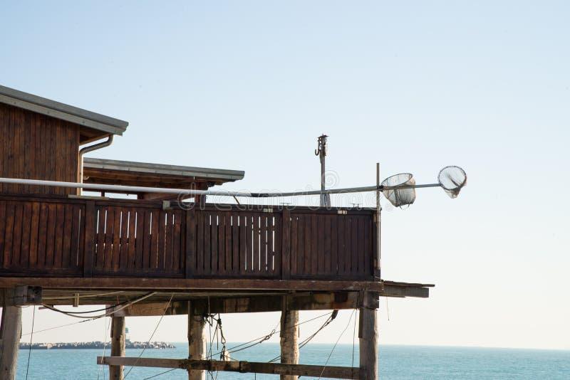 Sottomarina, Chioggia, adriatisches Meer, Italien Der Strand an einem Wintertag lizenzfreie stockbilder