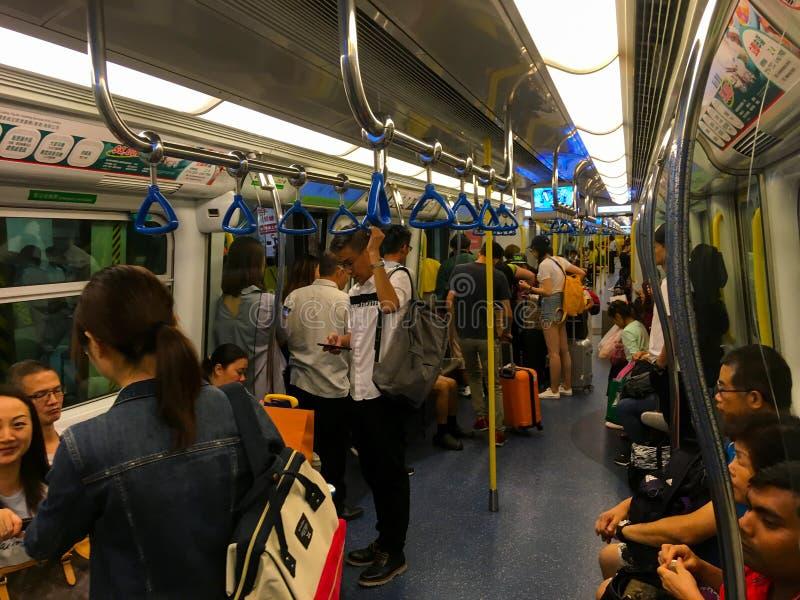 Sottopassaggio di Hong Kong o treno di MTR fotografia stock libera da diritti