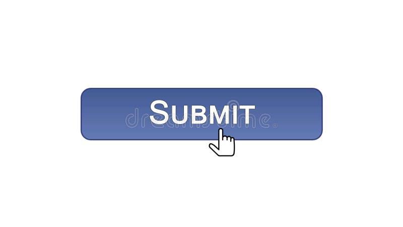 Sottoponga il bottone dell'interfaccia di web cliccato con il cursore del topo, colore viola, online royalty illustrazione gratis