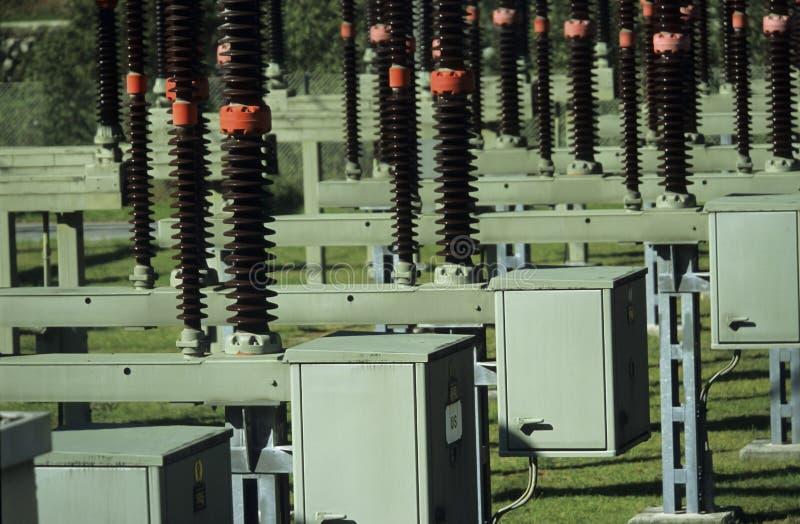 Sottostazione di trasformazione di energia elettrica fotografia stock libera da diritti