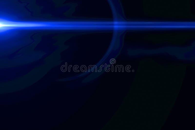 Sottragga gli impulsi luminosi blu ed emette luce fondo di moto delle perdite, con le linee orizzontali movimento di defocus illustrazione vettoriale