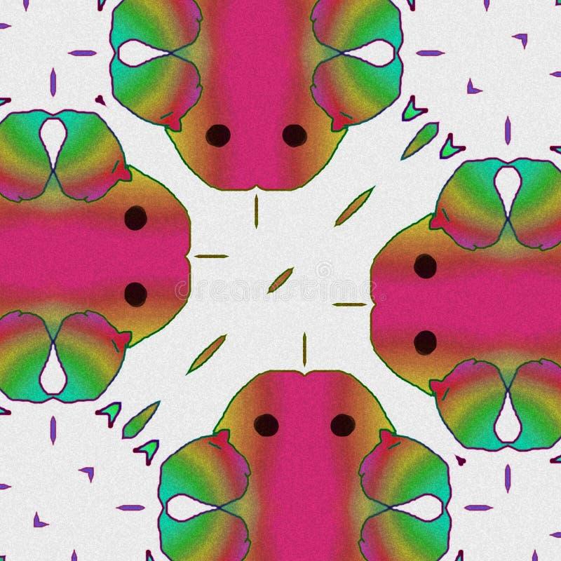 Sottragga gli uccelli i colori e le forme di uccelli Fumetto felice illustrazione di stock