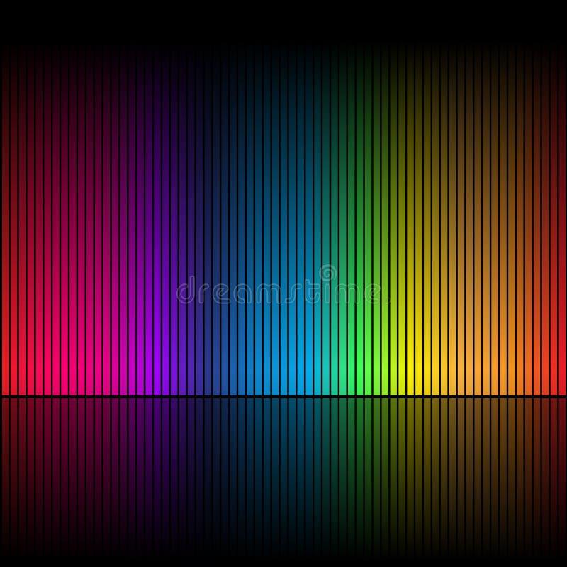 Sottragga i colori 1 del Rainbow illustrazione vettoriale