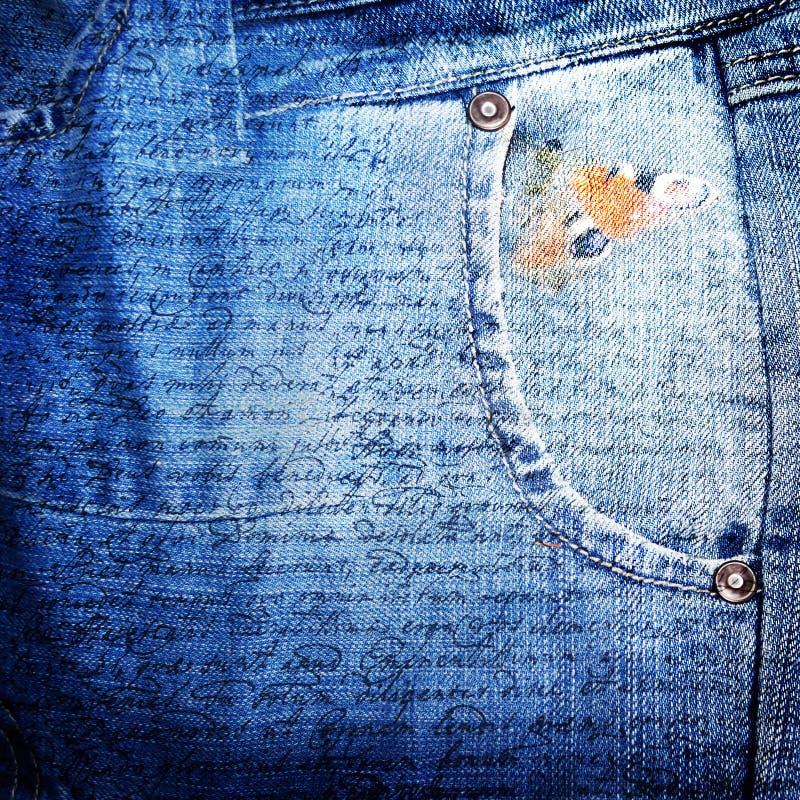 Sottragga il backround dei jeans fotografia stock