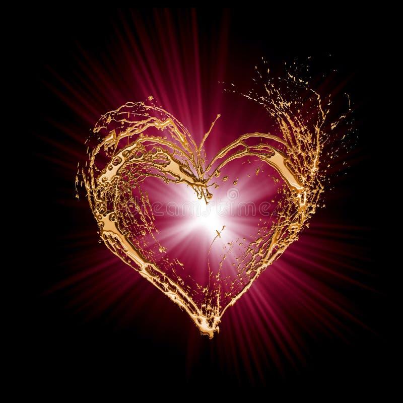 Sottragga il cuore del biglietto di S. Valentino royalty illustrazione gratis