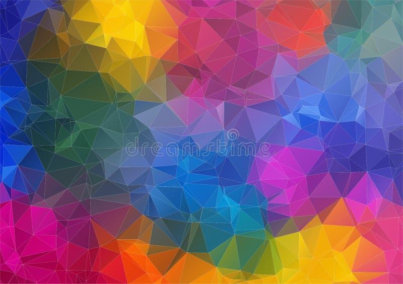 Sottragga il 2D fondo variopinto geometrico illustrazione di stock