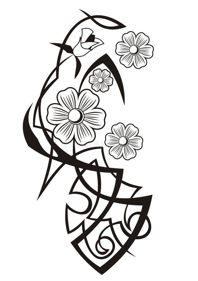 Fondo astratto del fiore immagine stock