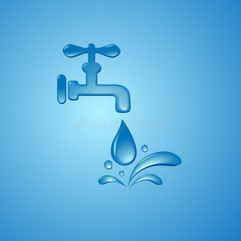 Conservi il fondo di simbolo del segno dell'acqua illustrazione vettoriale