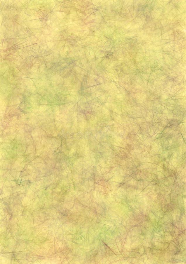 Sottragga il fondo sgualcito acquerello tirato nei colori beige Effetto di vecchia carta crumped Disegno dell'annata illustrazione di stock