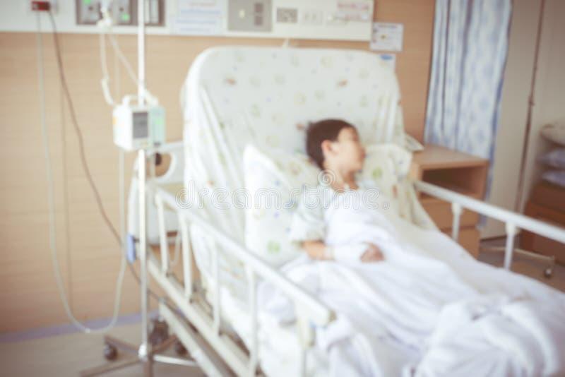Sottragga il fondo vago del bambino ammesso alla stanza di ospedale immagine stock libera da diritti