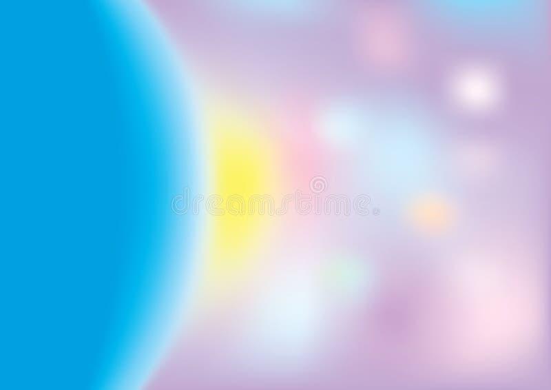 Sottragga il fondo vago, maglia di pendenza nei colori luminosi dell'arcobaleno Modello colourful d'ardore dell'insegna Morbidezz royalty illustrazione gratis