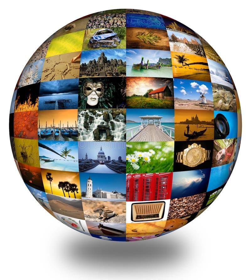 Sottragga il globo di fotographia immagini stock