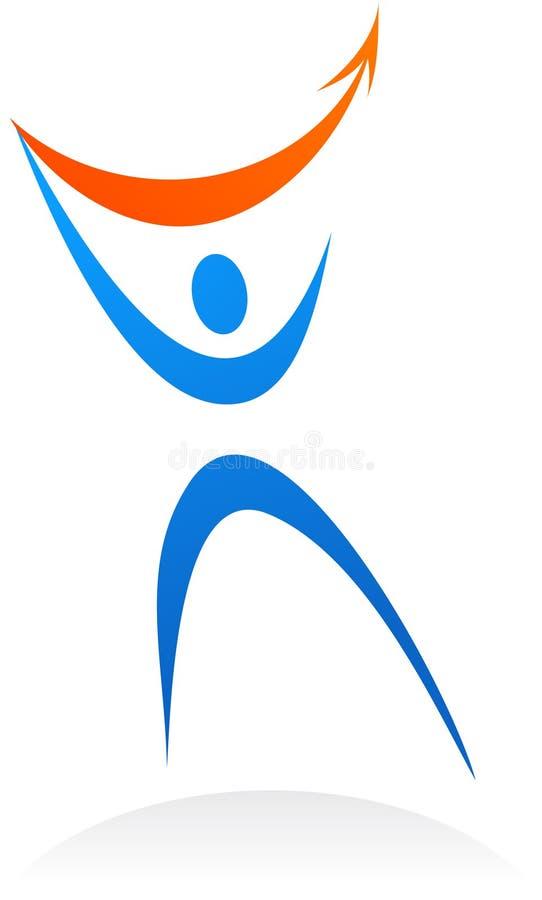 Sottragga il marchio/icona umani di silhuette illustrazione di stock