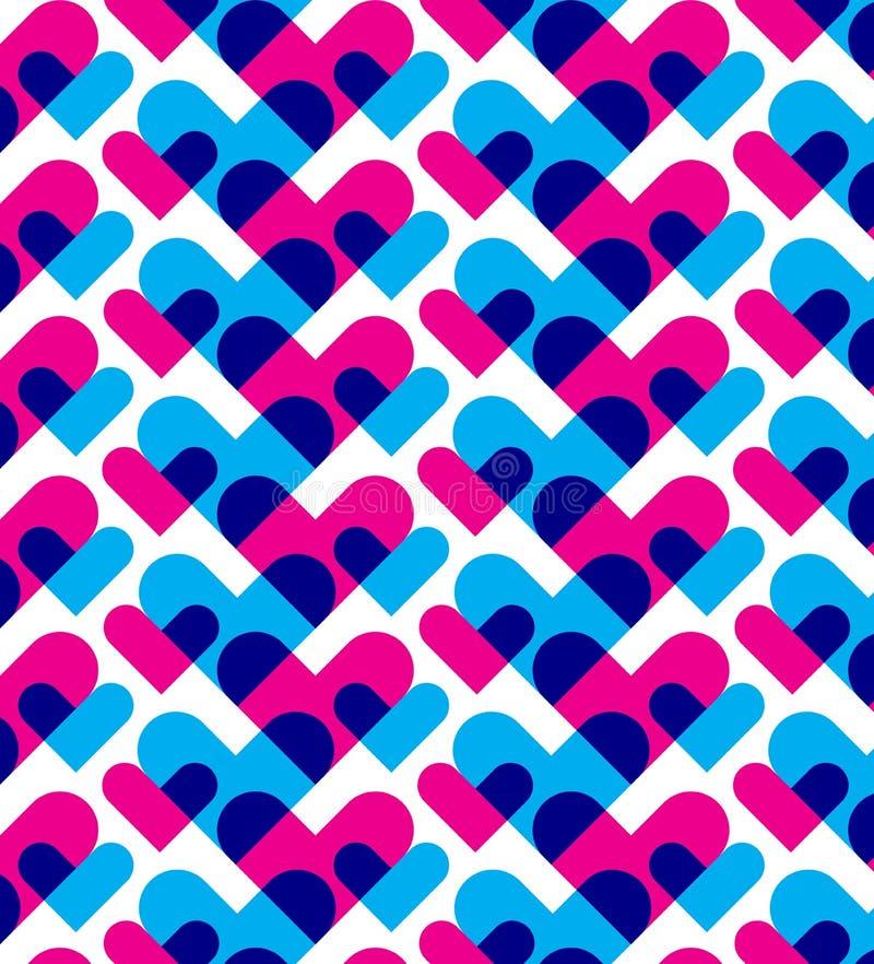 Sottragga il modello del cuore illustrazione vettoriale