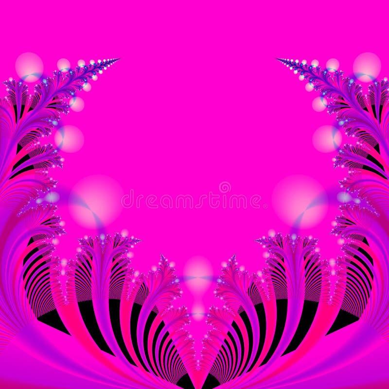 Sottragga il modello della priorità bassa nel colore rosa caldo, in azzurro, nel nero e nel colore rosso illustrazione vettoriale