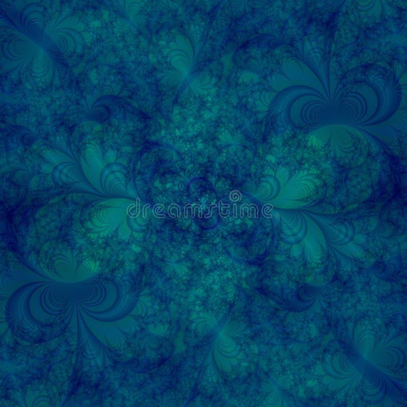 Sottragga il modello di disegno della priorità bassa in tonalità dei turbinii del aqua e dell'azzurro e di verde royalty illustrazione gratis