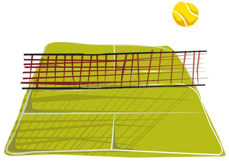 Sottragga il quadrato di tennis. illustrazione vettoriale